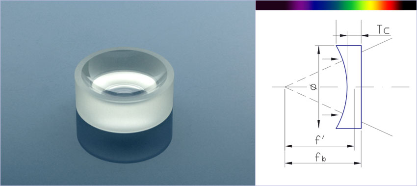 flat concave lenses