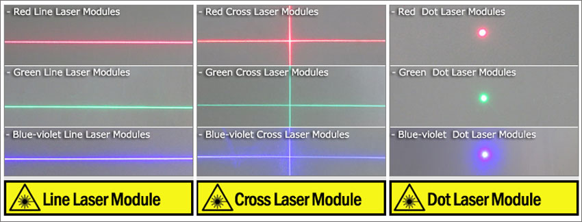 532nm cross line laser module