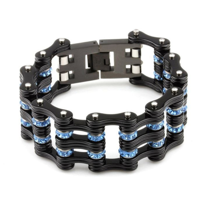 Bicycle chain link bracelets