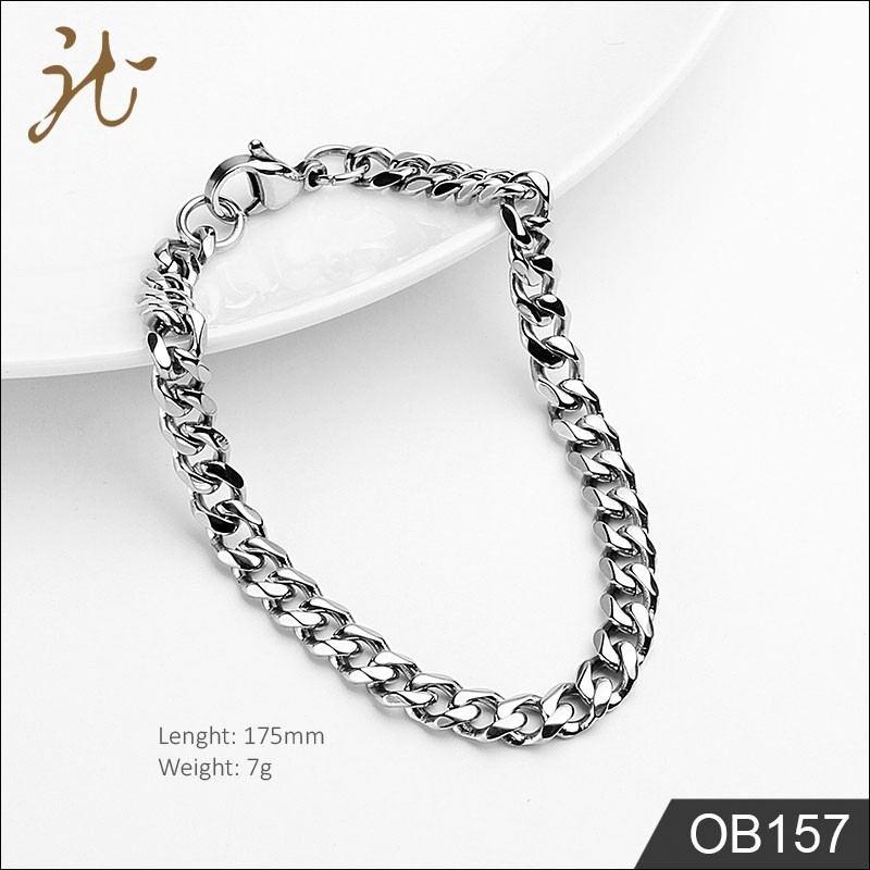 Titanium steel double-buckle bracelet