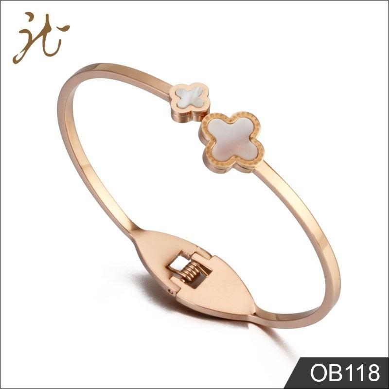 Custom flower metal bracelet