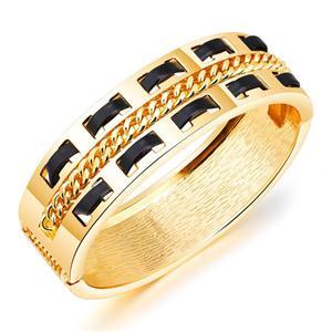 Trendy alloy poly urethane bracelets