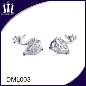 Silver jewelry earrings