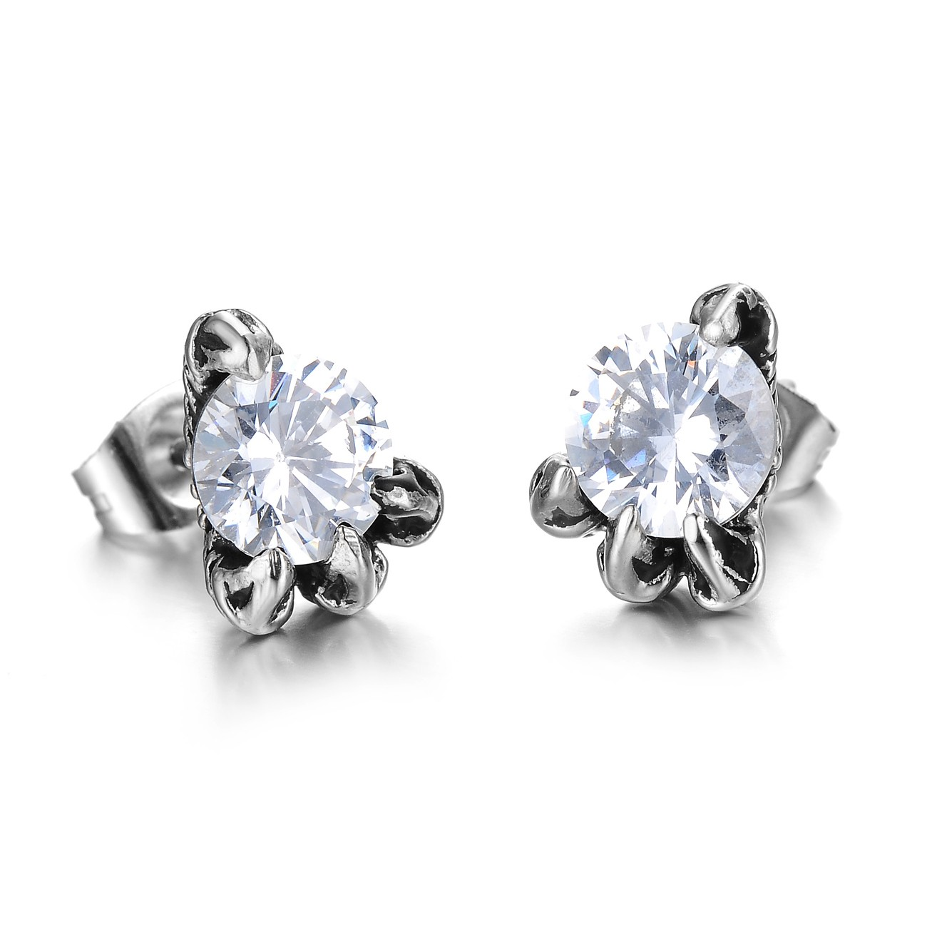Diamond youth party stud earrings
