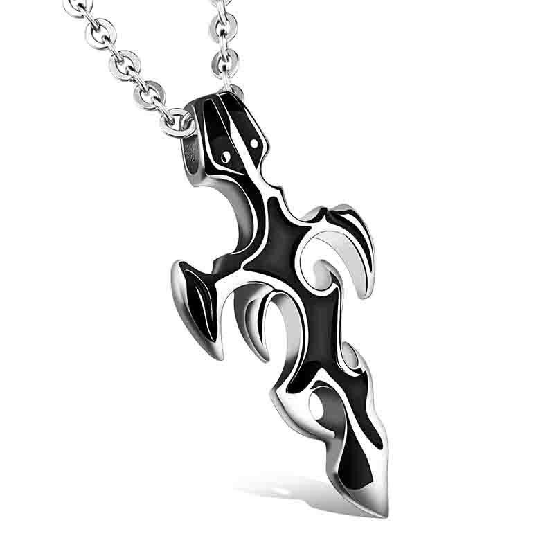 Cross design men's pendant