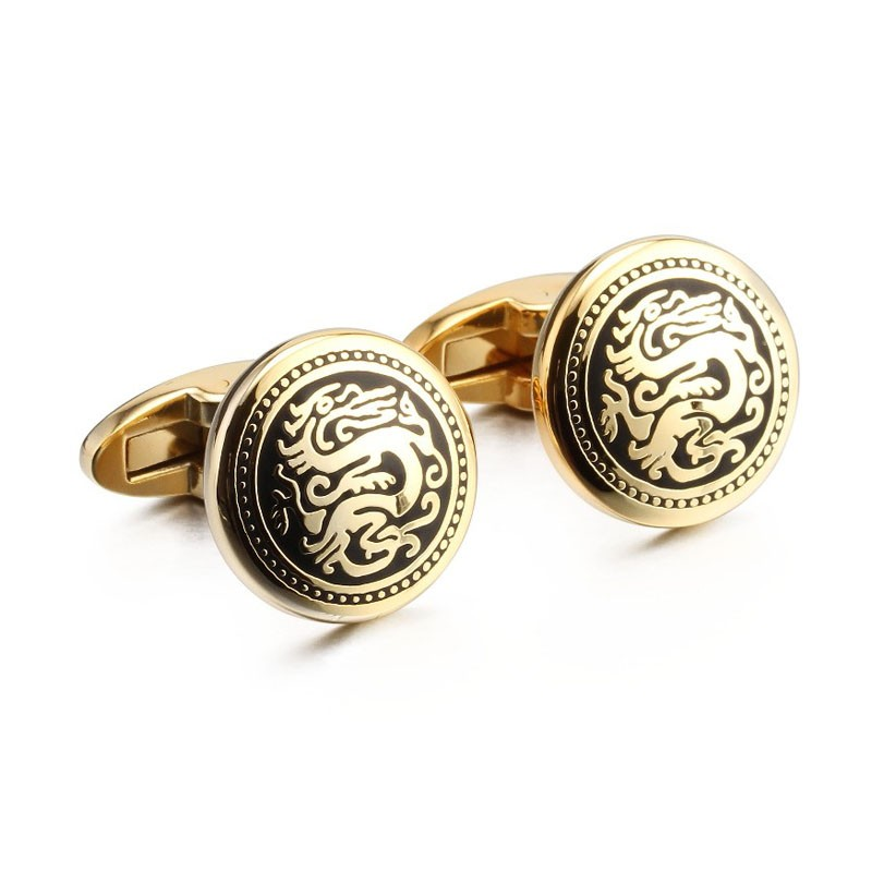Gold color beautiful cufflink