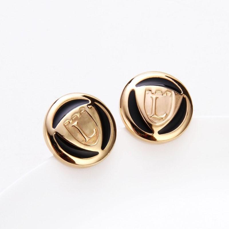 Brass cuff links jewelry buttons