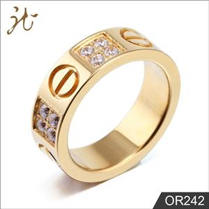 Gold plating finger rings