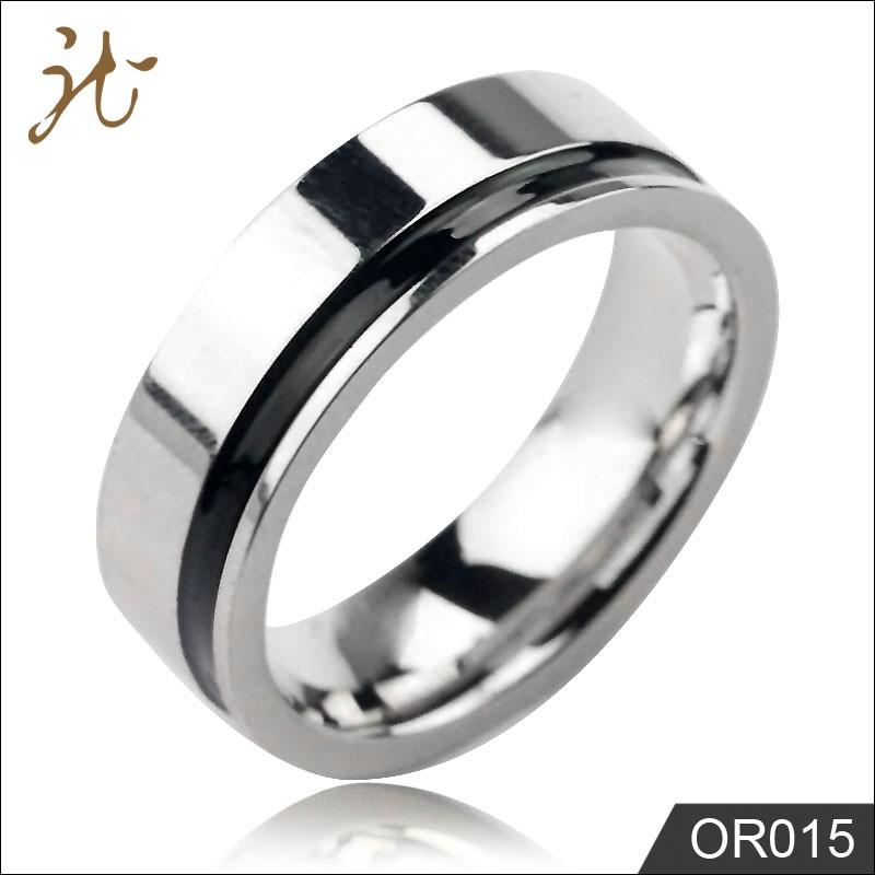 Plain silver finger rings