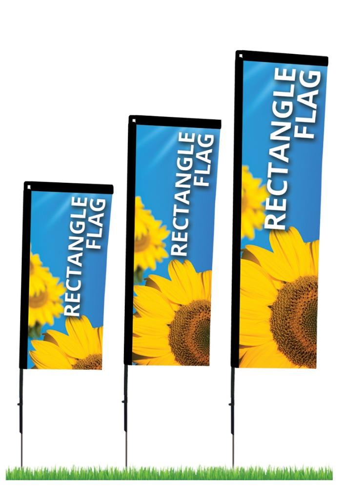 7 Foot Flag Pole, Beach Publicity Flag, Sand Publicity Flag