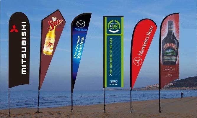 Black Beach Flag, Shore Advertise Flag, Beach Playbill Flag