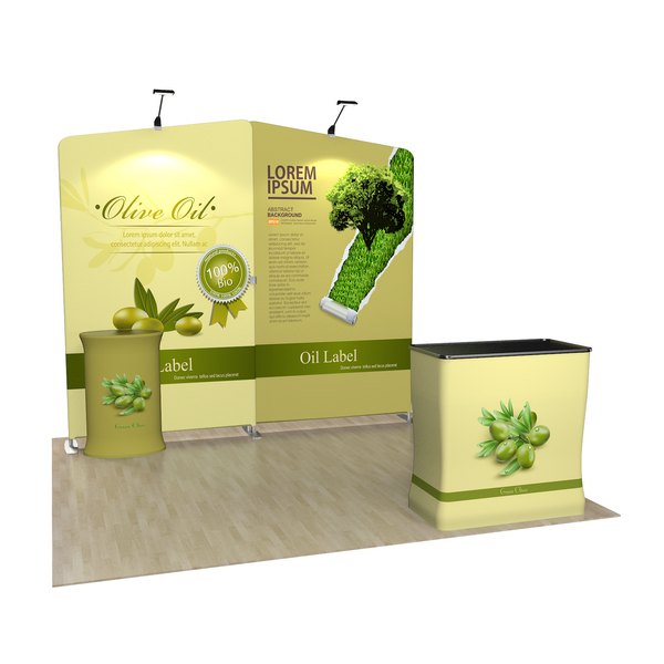 Small Trade Show Booth, Market Activity Region, Store Events Region