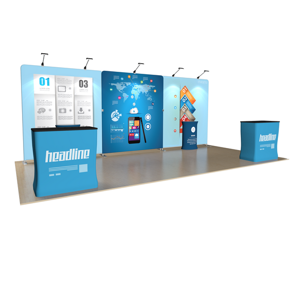 10X20 Trade Show Booth, Sell Events Area, Sales Events District