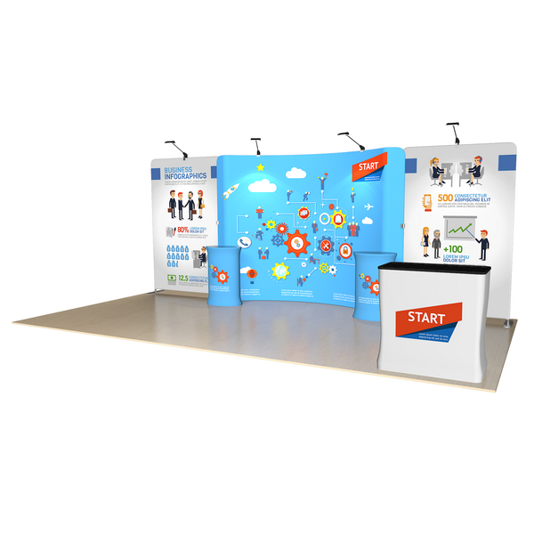 Simple Trade Show Booth, Sell Activity Area, Store Events District