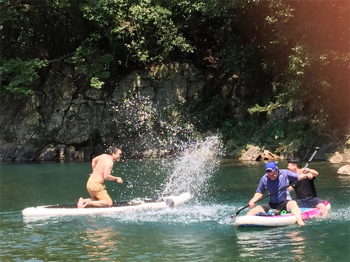 Team Outing with Adventurer SUP
