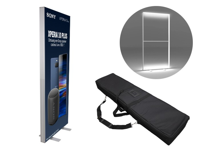 New! Portable SEG LED Light Box 1x2m