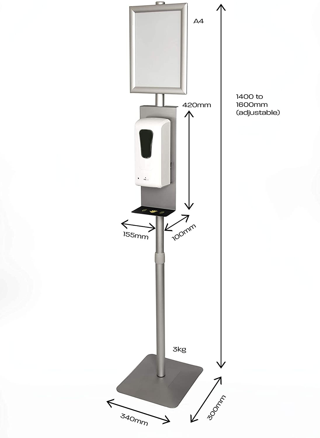 sanitizer dispenser station with poster frame Manufacturers, sanitizer dispenser station with poster frame Factory, Supply sanitizer dispenser station with poster frame