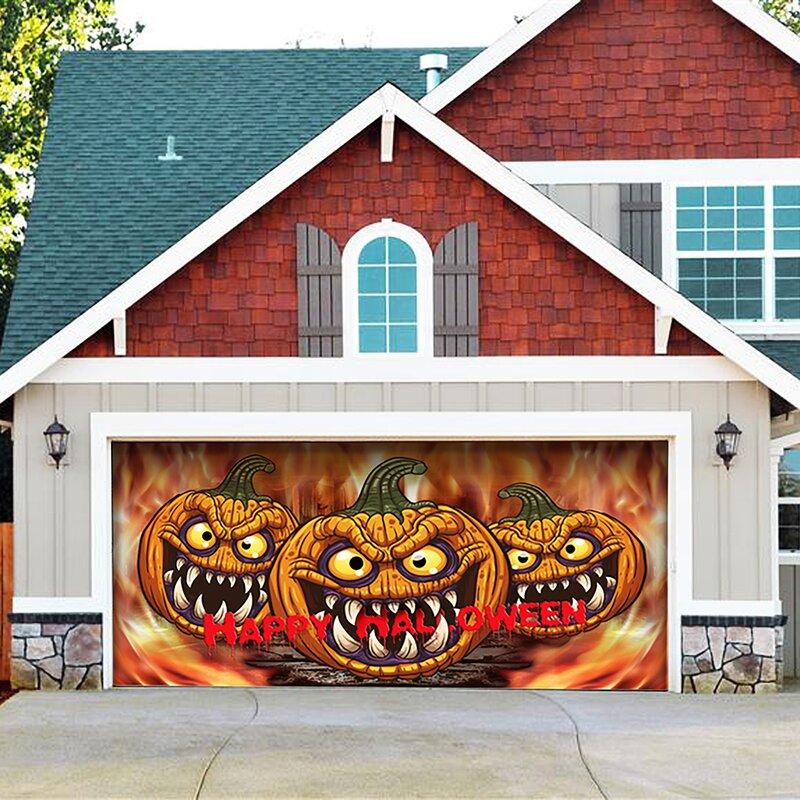 2021 Halloween Decoration Banner Garage Door Mural
