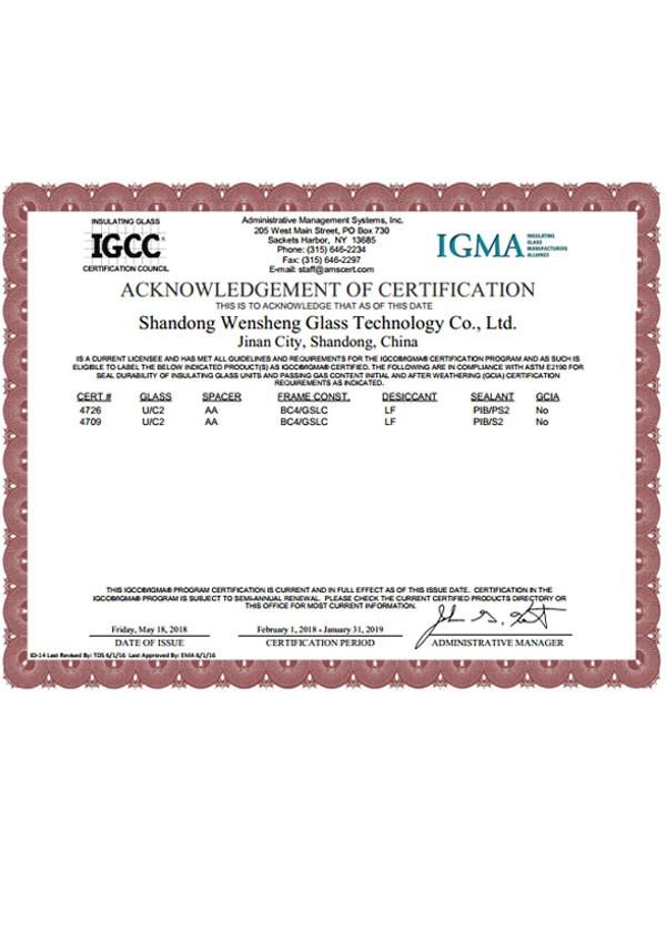 IGCC CERTIFICATION