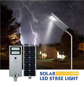 New Product High Power Outdoor Waterproof ip65 40w 60w 100w LED Solar street Light