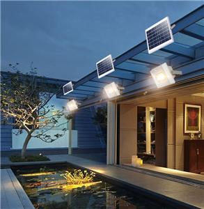 ALLTOP Hot selling IP65 ABS waterproof outdoor SMD 50 100 150 watt solar led flood light