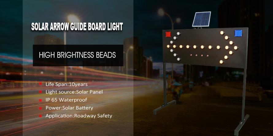 Solar Arrow Guide Board Light