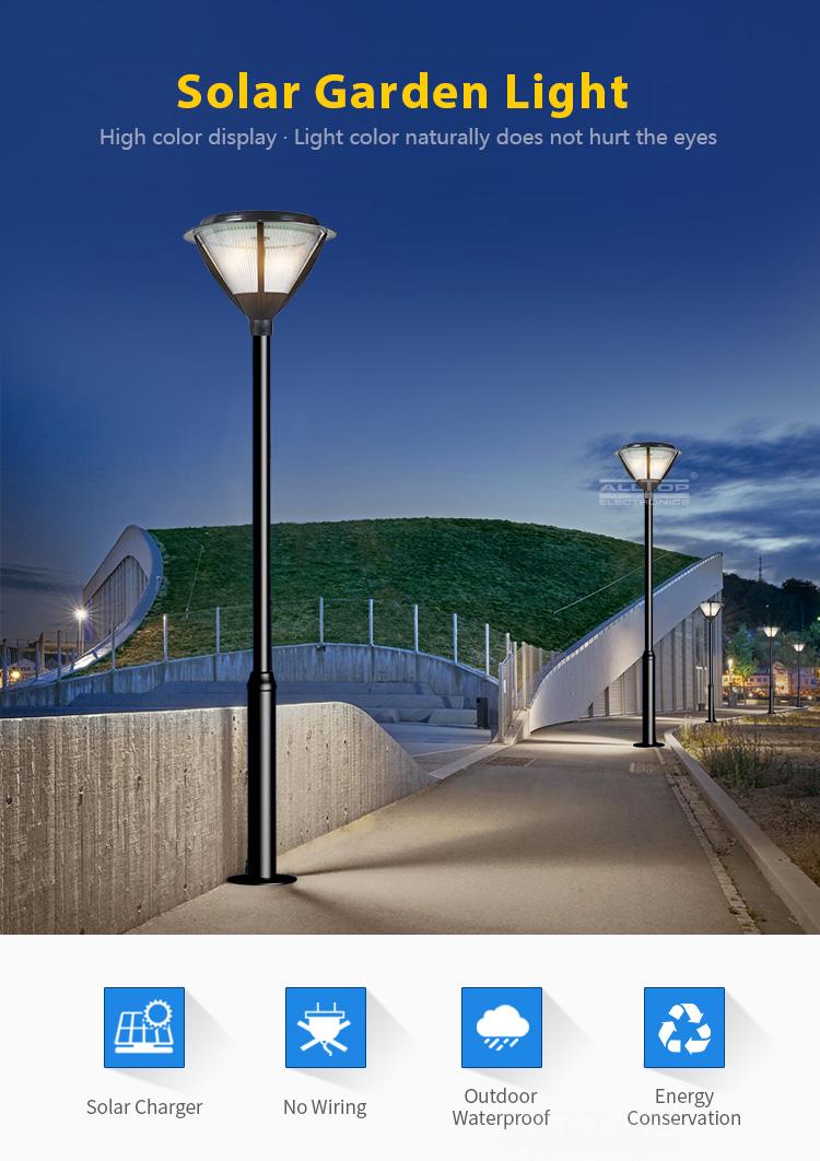 Solar integrated garden light
