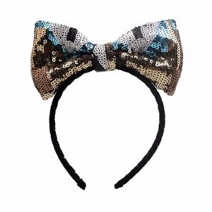 Classic Sequin Bow Headband Fashion Women Vintage Hairband