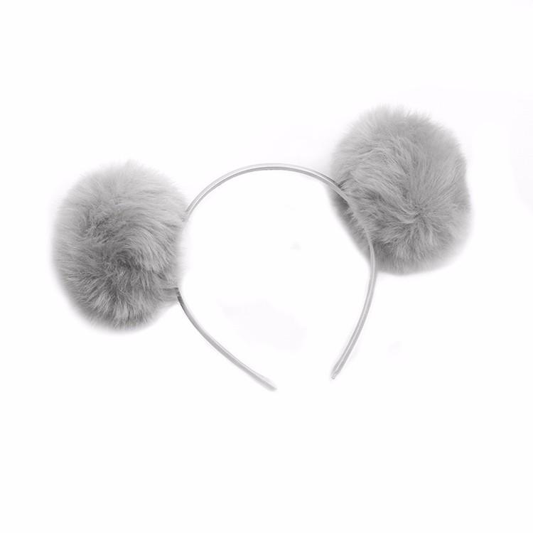 Stylish Plush Hairband Girls Fashion Pompom Headband