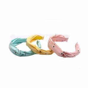 Fashion Flora Pattern Braided Hairband Girls Plain Hairband