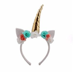 Hot Selling Unicorn Headband Cat Ear With Horn Headband For Kids