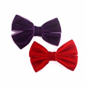 Hot Sale Women Velvet Bow Hair Clip For Women Fashion Fancy Hair Clip