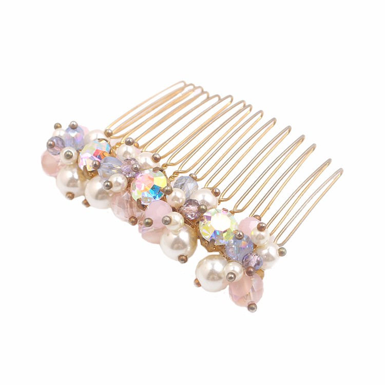 Charming Crystal Comb Women Beads Comb