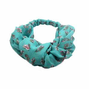 Chiffon Fabric Floral Printed Fashion Stretchy Women Headband