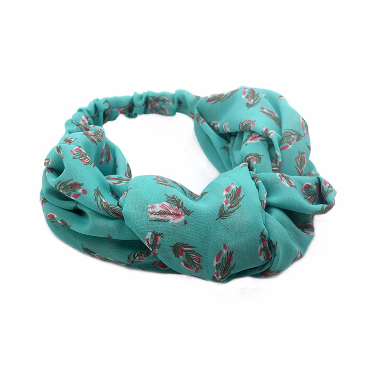 Chiffon Fabric Floral Printed Fashion Stretchy Women Headband Manufacturers, Chiffon Fabric Floral Printed Fashion Stretchy Women Headband Factory, Chiffon Fabric Floral Printed Fashion Stretchy Women Headband