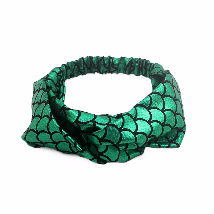 Soft Satin Fabric Print Mermaid Pattern Headband Manufacturers, Soft Satin Fabric Print Mermaid Pattern Headband Factory, Soft Satin Fabric Print Mermaid Pattern Headband