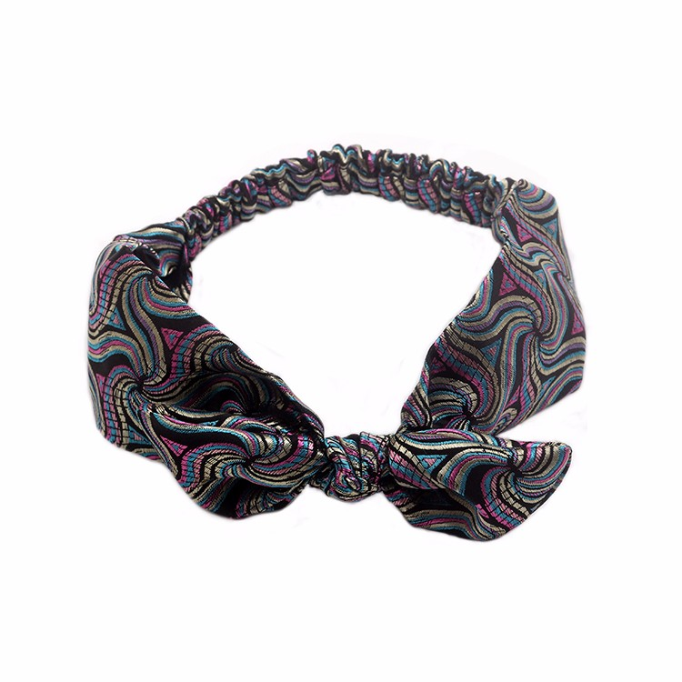 Charming Jacquard Headband Pattern Bow Headband