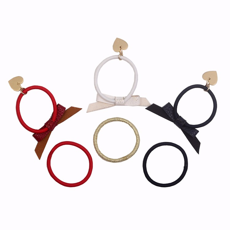 Multi Colors Girl Elastic Hair Tie Fashion Leather Bow Hair Tie With Charm Manufacturers, Multi Colors Girl Elastic Hair Tie Fashion Leather Bow Hair Tie With Charm Factory, Multi Colors Girl Elastic Hair Tie Fashion Leather Bow Hair Tie With Charm