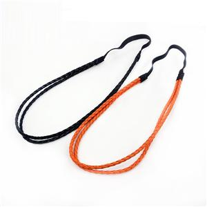 Colorful PU Leather Braid Cooling Headband Trendly Braid Headband