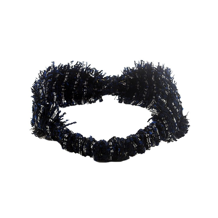 Stylish Dark Blue Tassels Lurex Vintage Headband Manufacturers, Stylish Dark Blue Tassels Lurex Vintage Headband Factory, Stylish Dark Blue Tassels Lurex Vintage Headband