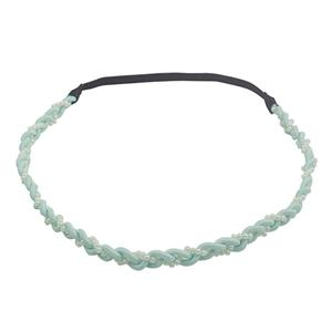 Fashion Chiffon Braid Pearl Headband Green Headband Women Neon Headband