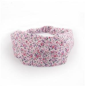 Stylish Pink Floral Pattern Head Wrap Headband For Women