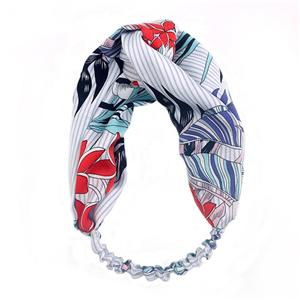 Fashion Floral Pattern Hair Band For Women Handmade Hair Head Wrap