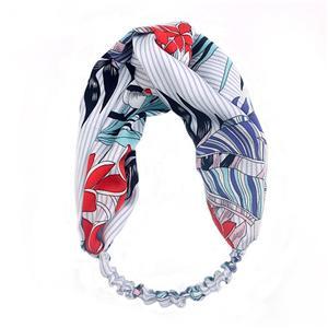Fashion Floral Pattern Hair Band For Women Handmade Hair Head Wrap