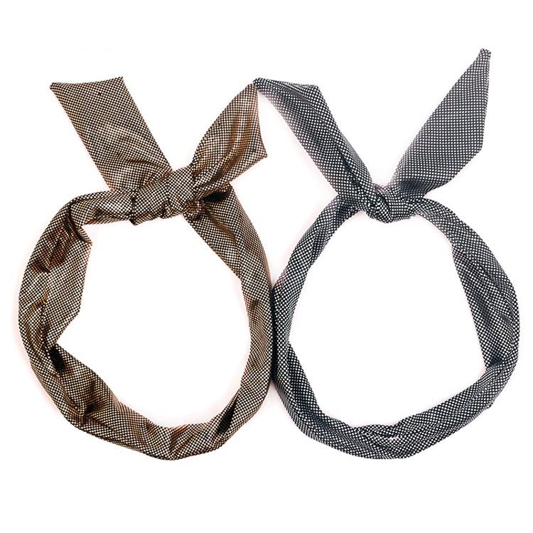 Wholesale Rabbit Ear Gold Head Wrap Women Gold Headband