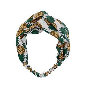 Hot Selling Pineapple Pattern Fashion Turband Head Wrap Women Fashion Headband
