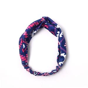 Handmade Fabric Bowknot Headband Dark Color Cloth Hair Band