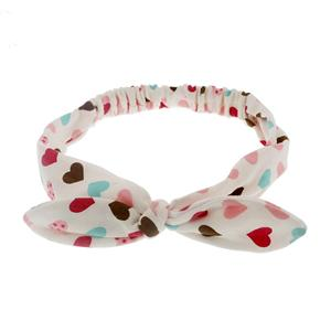 Soft Jersey Large Bow Headband Girls Polkdot Patter Knited Headband