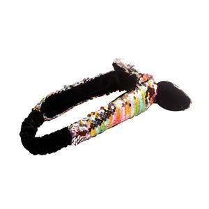 Colorful Charming Sequin Bow Headband Contrast Fabric Headband Manufacturers, Colorful Charming Sequin Bow Headband Contrast Fabric Headband Factory, Colorful Charming Sequin Bow Headband Contrast Fabric Headband