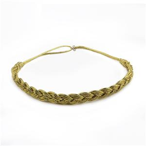 Gold Braid Elastic Headband Wholesale Yellow Stretchy Headband